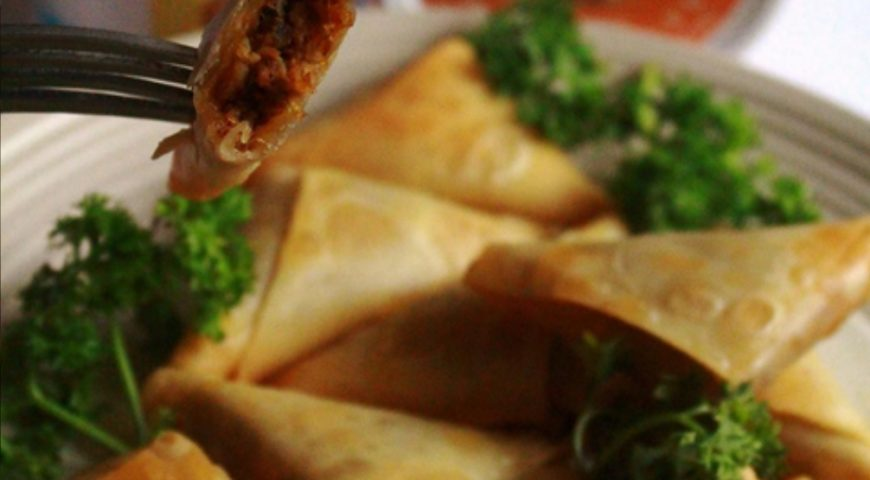 Swimming Crab Samosa