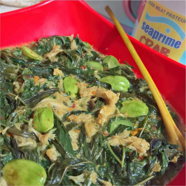 Blue Crab Recipe - Cassava Leaves Crab Petai Curry - Contact Seaprime for Crab Order
